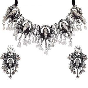 Oxidised Silver Gypsy Trishul Jewelry Set_cover1