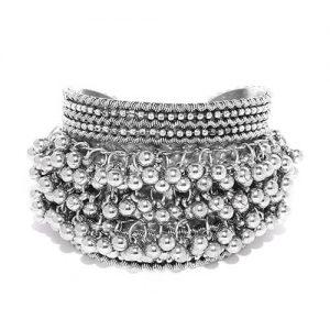 Oxidized Silver Ghungroo Bracelet_cover