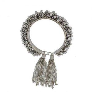 Oxidized Silver Ghungroo Cuff Bracelet_cover